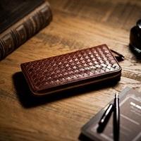 編み込みデザイン 財布