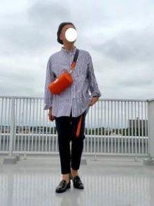 シャツ 黒のパンツ ハンチング帽 メンズコーデ