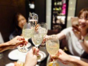 女子会 乾杯