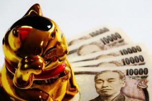招き猫 1万円札