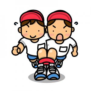体育祭 二人三脚 イラスト
