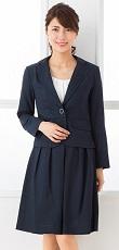 女性 スカートスーツ 紺