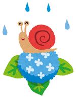 カタツムリ 梅雨