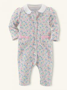 赤ちゃん 服 花柄カバーオール