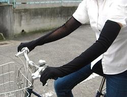 自転車女子 ロング丈