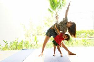 子供 母親 体操