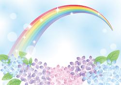 梅雨明け 虹