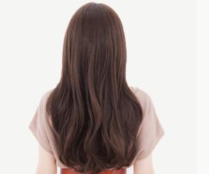 ロング 髪型 入園式 母親