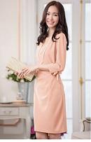 40代 シンプルワンピースドレス