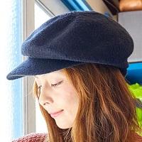 丸顔 ハンチング帽