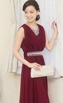 ワインレッド ドレス