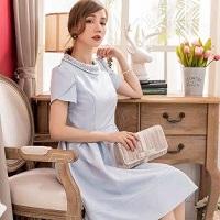 ドレス ブルー系