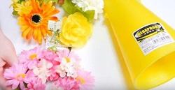 メガホンとお花
