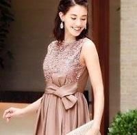 シャンパンピンク ドレス
