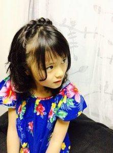 小学生 女子 髪型 ミディアム 編み込み