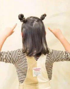 小学生 女子 髪型 ミディアム つのヘア