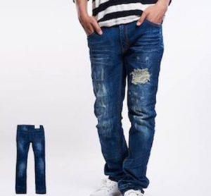 メンズ ファッション ダメージジーンズ