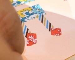 マスキングテープでケーキとろうそくを表現