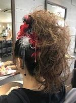 花飾り 逆毛