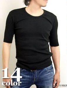メンズ ファッション ブラックTシャツ ジーンズ