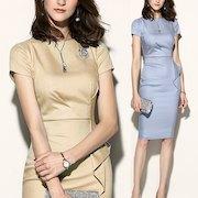 シフォンワンピースドレス 女性