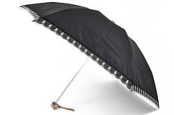 ランバン 刺繍入り 折りたたみ日傘