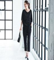 パンツドレス 黒