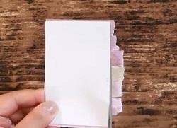 カードからはみ出したマスキングテープ