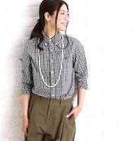 チェックシャツ 女性