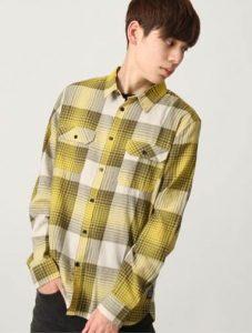 メンズ ファッション チェックシャツ