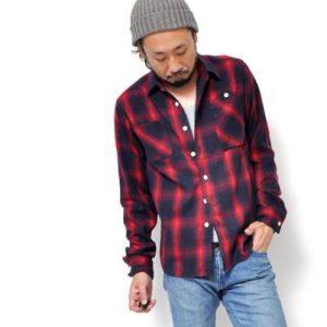 メンズ ファッション チェックシャツ ジーンズ ニット帽