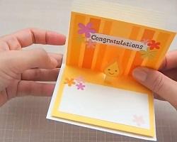 手作り 飛び出すメッセージカード