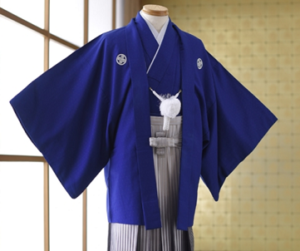 ブルーの袴 メンズ