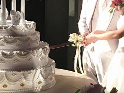 結婚式 ケーキ入刀