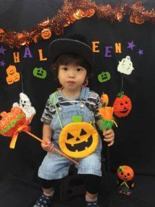 ハロウィン 子ども かぼちゃ