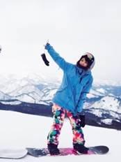 レディース スノーボードウェア ブルーとピンク系