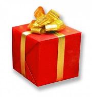 ゴールドリボンのプレゼント