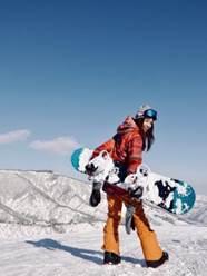 レディース スノーボードウェア オレンジ系