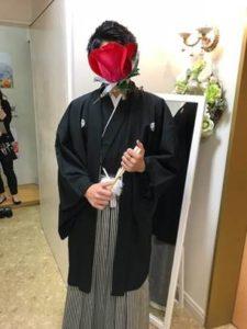 成人式 男性 黒の袴