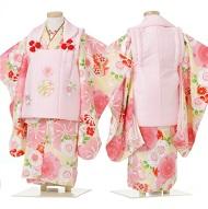 七五三 ピンクの着物