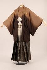 茶色系の袴 メンズ
