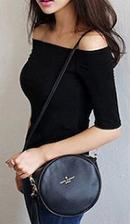 ブラック スリムTシャツ