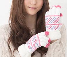 手袋 女子中学生