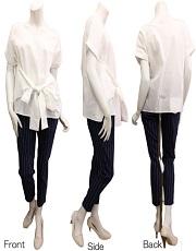 ストライプ ホワイトシャツ