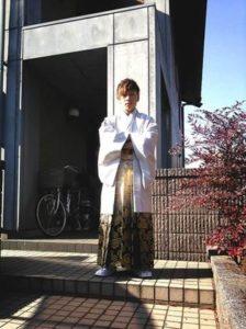 成人式 男性 白の袴
