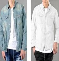 デニムシャツ ホワイトデニムシャツ メンズ