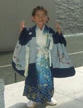 七五三 袴を着た男の子 編み込みヘア