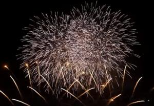 須賀川市釈迦堂川花火大会 打ち上げ花火