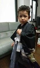 七五三 袴を着た男の子 オールバック
