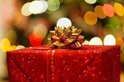 ゴールドリボン クリスマスプレゼント